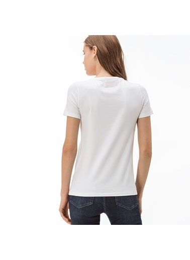 Lacoste Kadın  Tişört TF0998.001 Beyaz
